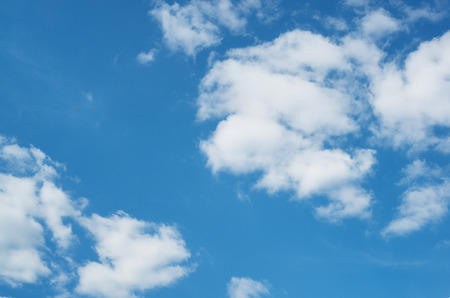 nebulosity: White clouds in blue sky Stock Photo