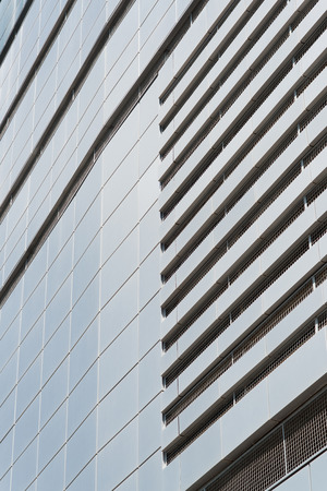 aluminum texture: Modern facade of composite panels, view from outside