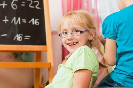 private schools: Children playing school