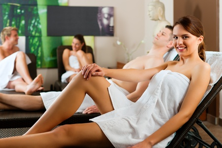 People in wellness relaxation room photo