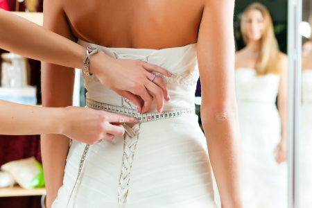 tailored: Bride at the clothes shop for wedding dresses