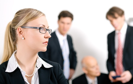 excluded: Businesswoman being excluded  Stock Photo