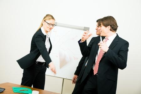 quitting: Furious business woman quitting the damn job