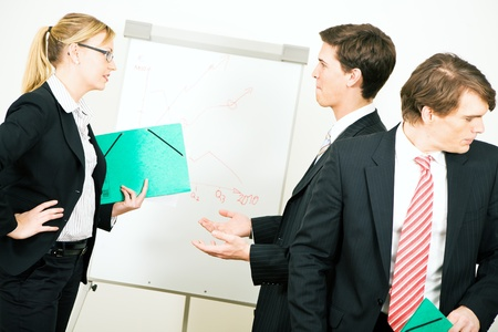 disagreement: Business team in the midst of an argument