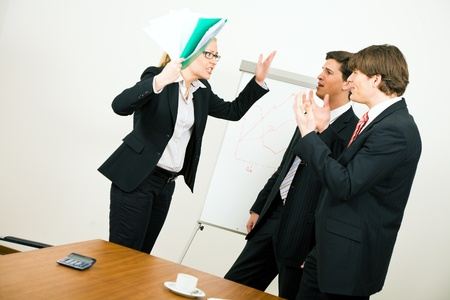 dissent: Business team having a quarrel