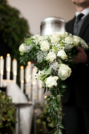death candle: Religion, death and dolor  - funeral and cemetery; urn funeral