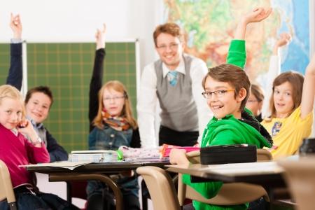 escuela primaria: Educación - Los alumnos y aprendizaje de los maestros en la escuela elemental o primaria en el aula