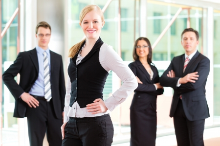 group photo: Business - group of businesspeople posing for group photo in office