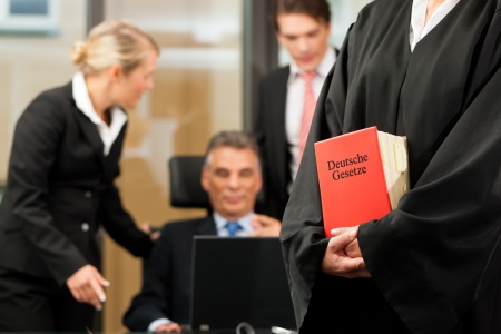 civil law: Business - team meeting in a law firm Stock Photo