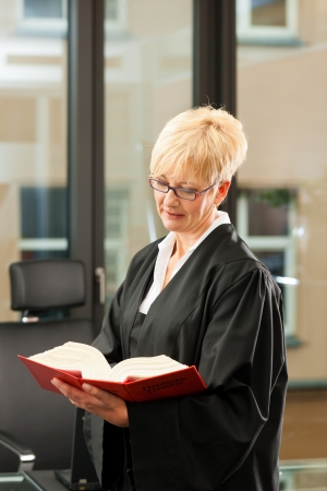 mensch: Female lawyer with German civil code