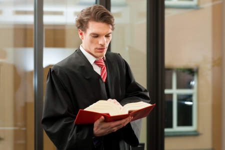 mensch: Lawyer with civil law code