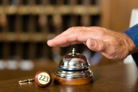Reception - Hotel bell just before using Stock Photo - 17324843