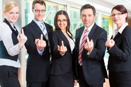 refusal: Business - group of businesspeople posing for group photo in office