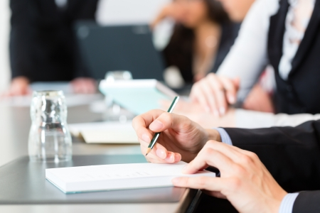 Business - businesspeople have a meeting or workshop with presentation in office Stock Photo - 18182575