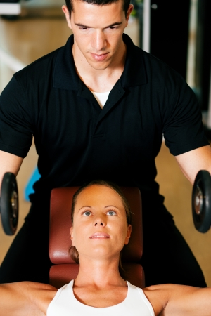 personal trainer: In the Gym with trainer