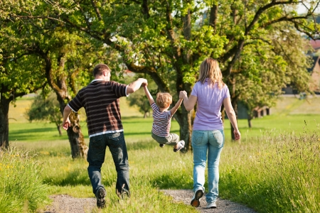 Happy family in summer  photo