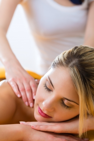 Wellness - woman receiving body or back massage in spa Stock Photo - 19806462