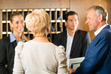guest room: Reception - Guests check in at hotel and getting information