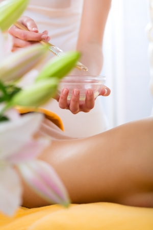 Wellness - woman receiving body or back massage in spa Stock Photo - 20836817