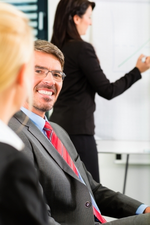 Business - businesspeople have team meeting or workshop in an office, it is a very good team – Portrait of a businessman Stock Photo - 24283657