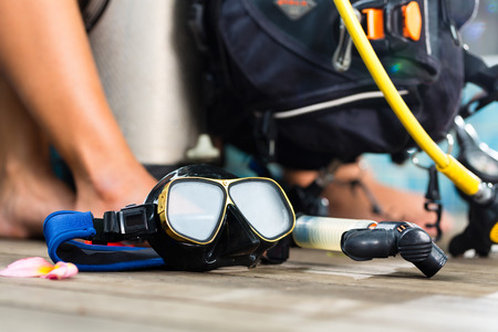 Equipment for divers, oxygen bottle photo