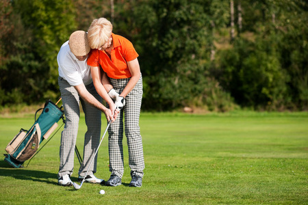 Golf training in summer photo