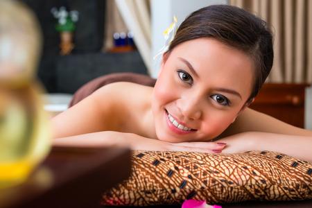 oriental massage: Chinese Woman having wellness massage