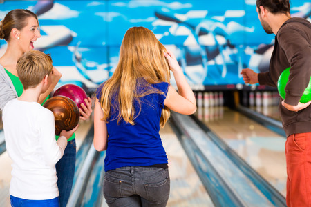 Family at Bowling Center photo