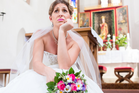 runaway: Bride waiting alone for wedding being frustrated