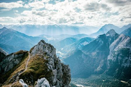 View from Mittelwalder via ferrata into alp valley