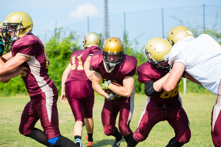 defence: Defense after pass at American Football Game