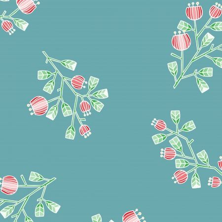 modest fashion: Delicate floral pattern for fabric and furniture. Illustration