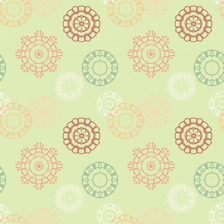 modest fashion: Seamless wallpaper background with abstract flowers Illustration