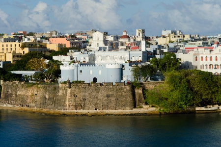 juan: Evening view on old San Juan, Puerto Rico