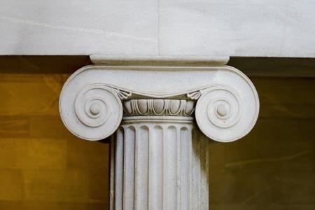 derecho romano: Pilar iónica del Interior Foto de archivo