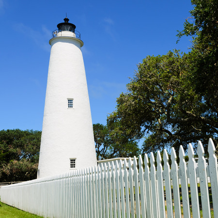 Ocracoke lighthouse on the outer banks North Carolina 写真素材