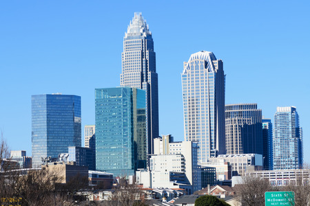 Skyline of Uptown Charlotte NC