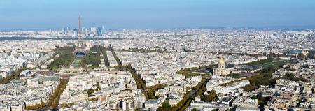파리의 스카이 라인 파노라마 스톡 콘텐츠