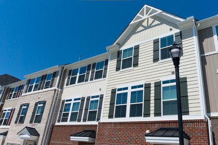 town homes: Row of town homes Stock Photo