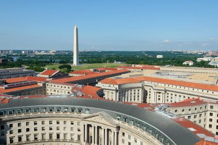 Luchtfoto op Washington DC
