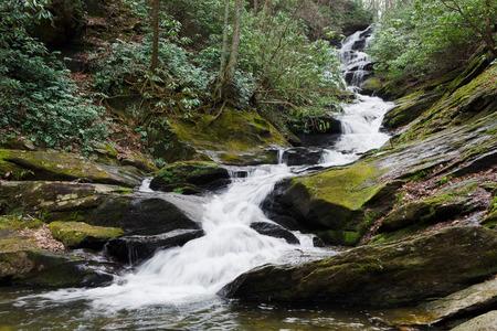 Waterfall in Appalachian mountains
