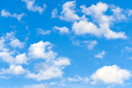blue and white: Blue sky with clouds
