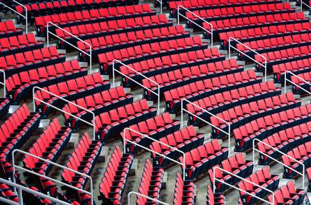 Indoor arena seats Standard-Bild