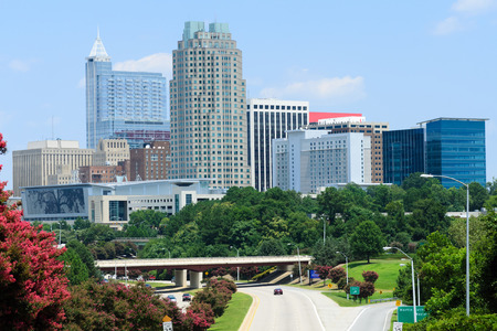 View on downtown Raleigh, NC USA