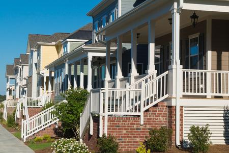 Street of residential houses 写真素材