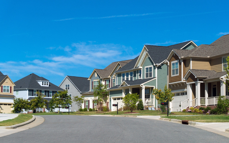 Straat van woonhuizen