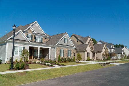 suburban: Street of large suburban homes