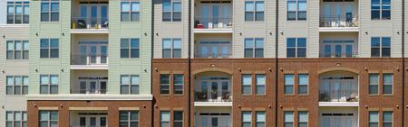 Apartmnet building front Standard-Bild