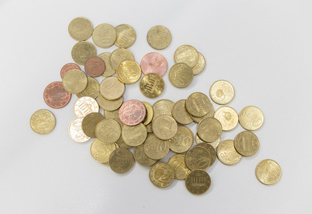 Euro coins, money, means of payment