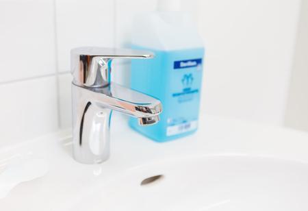 Faucet, wash hands, disinfectant